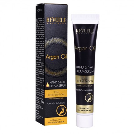 Hand & Nail Cream-Serum REVUELE Argan Oil 50ml