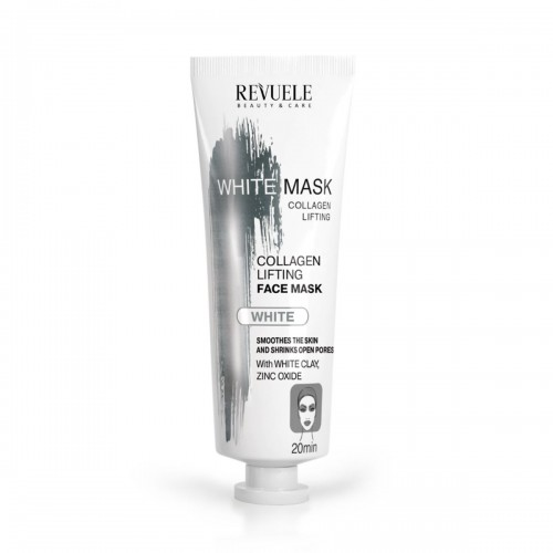 "REVUELE ""PRECIOUS FACIAL MASK""-WHITE MASK-LIFTING FACE MASK-COLLAGEN EXPRESS"