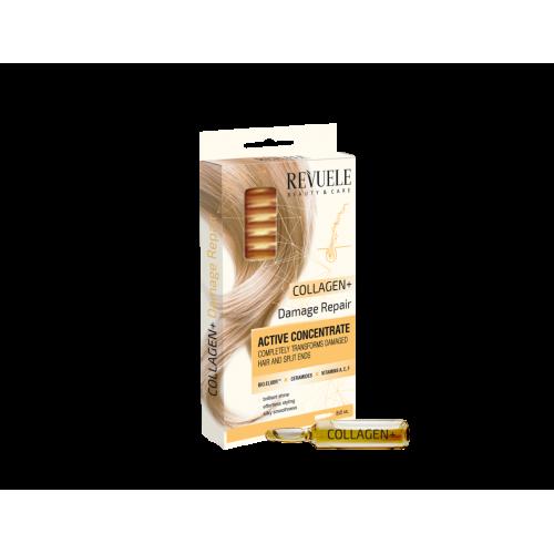 """REVUELE ACTIVE HAIR CONCENTRATE Collagen + """"Damage Repair"""" 8 X 5 ML, 8 PCS"""