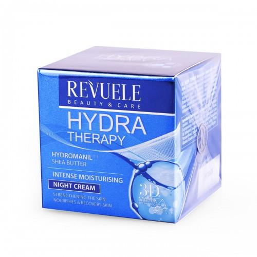 Ноќна крема за интензивна хидратација на кожата на лицето REVUELE Hydra Therapy 50ml