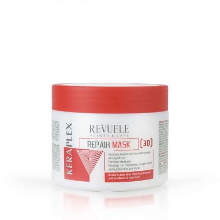 Маска за регенерирање и обновување на косата REVUELE Keraplex 3D 300ml