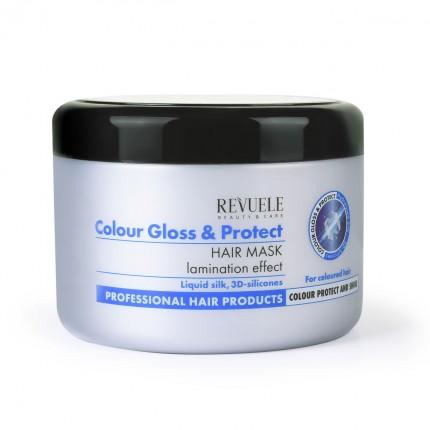 Маска за заштита и сјај на фарбана коса REVUELE Color Gloss&Protect 500ml
