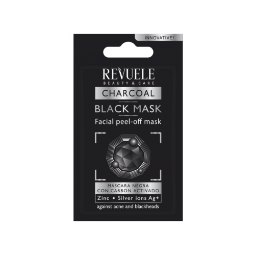 """""""NO PROBLEM"""" - BLACK MASK – Facial –mask film- PEEL OFF MASK (with activated Carbon)"""