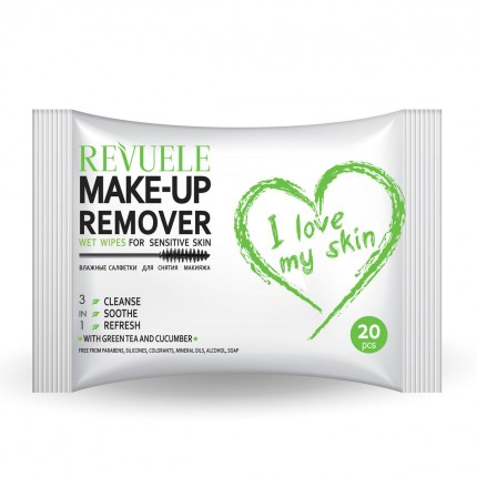 Влажни шамивчиња Wet wipes MAKE-UP REMOVER I LOVE MY SKIN for Sensitive skin