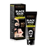 """REVUELE """"3D FACIAL MASK"""" - PEEL OFF BLACK MASK with activated Carbon&Pro-Collagen"""