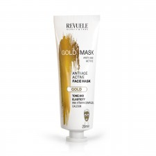 "REVUELE ""PRECIOUS FACIAL MASK""-GOLD MASK -ANTI-AGEING FACE MASK, LIFTING EFECT, TONE & ELASTICITY"