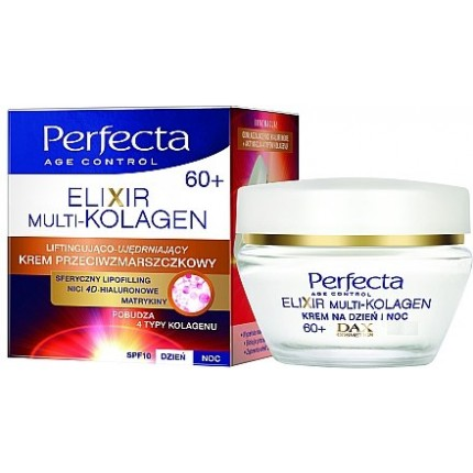 PERFECTA AGE CONTROL-DAY & NIGHT CREAM-60+ SPF10 ELIXIR MULTI COLLAGEN
